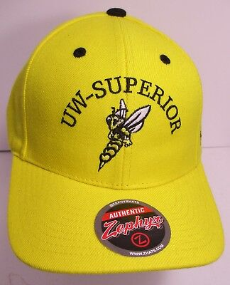 4b6a0223 UW Superior Yellowjackets Hat Cap Wisconsin University Zephyr USA New