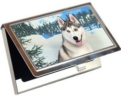 Siberian Husky Business Card / Credit Card Case