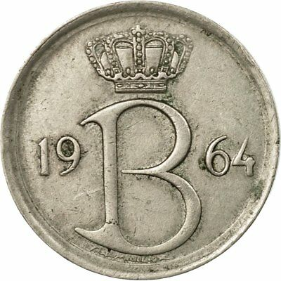 [#585458] Monnaie, Belgique, 25 Centimes, 1964, Bruxelles, TTB, Copper-nickel