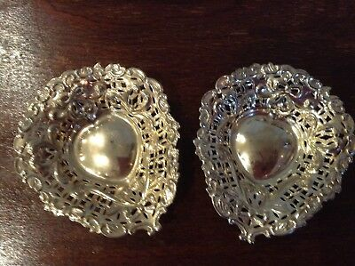 Vintage pair of matching Bon Bon dishes