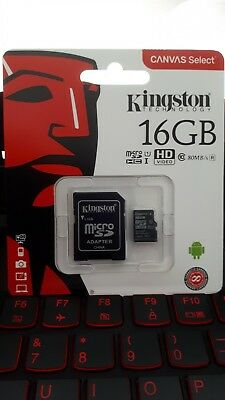 Kingston Canvas Select 16gb Class 10 Card Uhs Sd S Micro Memory Microsd 80mb