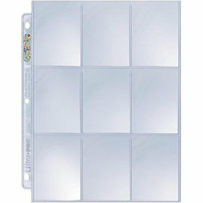 Ultra Pro Platinum Series A4 9 Pocket Pages - Trading Card Sleeves for SmallSta