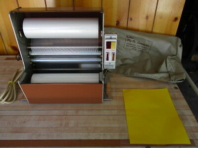 "vtg. 12"" Apeco ply on hot roller laminator commercial laminating machine"