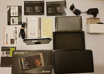Archos 7 Inhernet Media Tablet 160GB pantalla tactil+caja+paleles