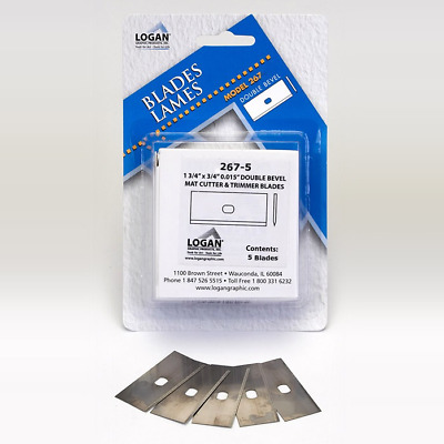 Logan Graphic Products #267 Logan Mat Cutter Replacement Blades 5-Pack