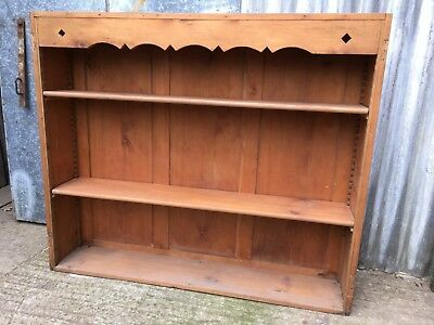 126.9x150.2cm Victorian Pine Ex-Dresser Top Bookcase Shelves Adjustable Shelf
