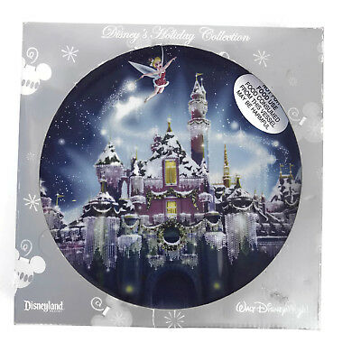 Disneyland Holiday Collection Christmas Plate Tinkerbell Castle 3D Relief 2008