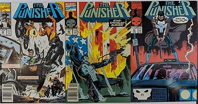 The Punisher #43 #44 #45 Marvel Comic 1987 2nd Series 1991 Chuck Dixon