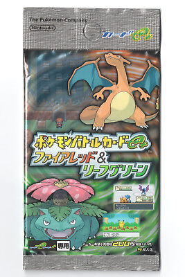 Pokemon Battle e Cards FireRed LeafGreen booster pack Japanese SEALED