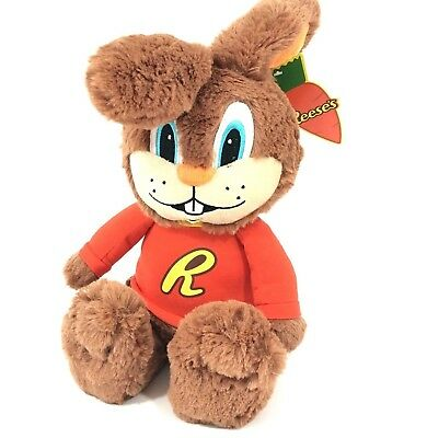 Reeses Hersheys Candy Reester Bunny Plush Stuffed Animal Doll  Brown 16""