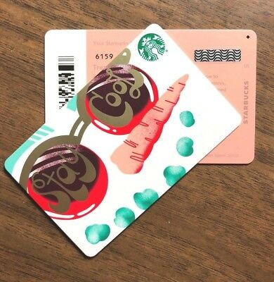 "Starbucks Gift Card 2018 New RARE DIAMOND ""Stay Cool"" Snowman Holiday No $ Value"