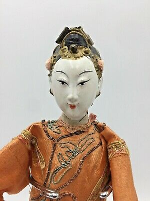 Antique Vintage Chinese Opera Doll Embroidered Costume