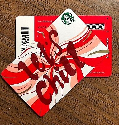 "Starbucks Gift Card 2018 New RARE DIAMOND ""Let's Chill"" Swirl Holiday No $ Value"