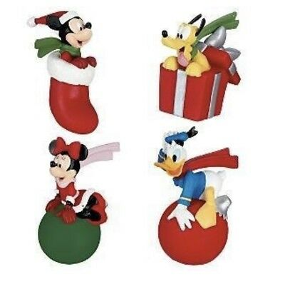 658c6f2f12ade Disney Antenna Toppers Christmas set of 4 Santa Mickey Minnie Mouse Donald  Pluto