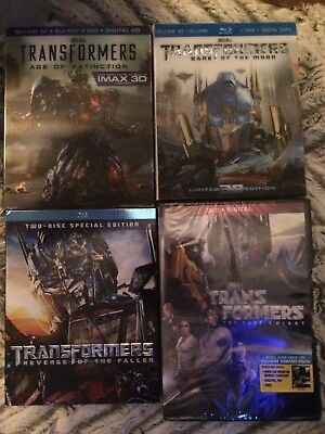 Transformers 4-Movie Film Collection on Blu-ray/DVD 1 2 3 4 1-4