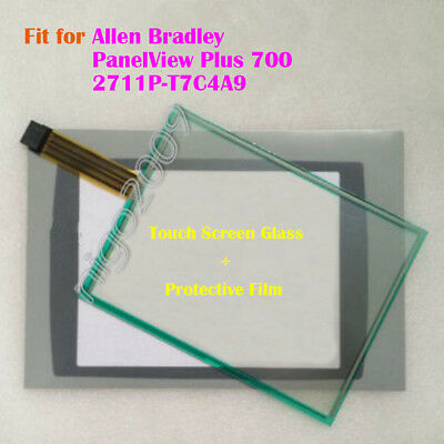 for Allen Bradley PanelView Plus 700 2711P-T7C4A9 Screen Panel + Protective Film