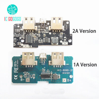 5V 1A 2A Power Bank Charger Module Boost Charge PCB Circuit Board DIY Powerbank
