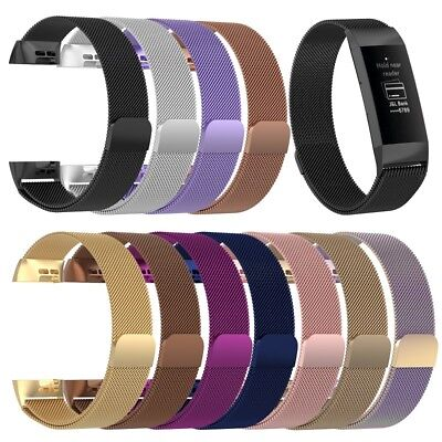 Watch Band For Fitbit Charge 3 Bracelet Wrist Milanese Stainless Replacement