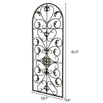 "New 41.5""H Hanging Wrought Iron Metal Black Wall Art Decorative auspicious cloud"