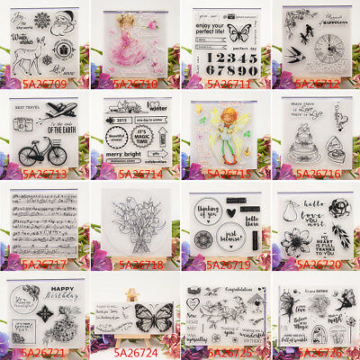 Clear Rubber Silicone Seal Stamp For DIY Scrapbooking Album Photo Card Decor