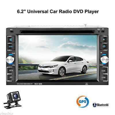 2DIn Car Radio DVD Player GPS Bluetooth Touch SD Stereo Dash Unit SD Map +Camera