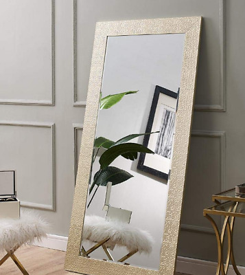 Large Full Length Floor Mirror Leaning Wall Lounge Gold Mosaic Ornate Frame New