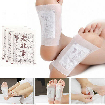 Detox Foot Pads Cleansing Patches Toxin Removal Ginger Salt 10Pc Foot Patch SHE