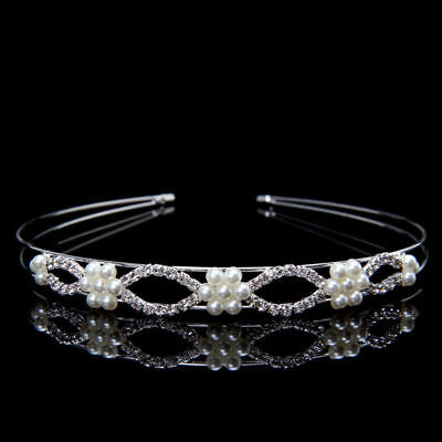 Wedding Bridal Formal hair Accessories Crystal Head band crown Tiara 2