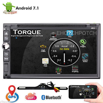 """Quad Core Android 7.1 4G WIFI 7""""Double 2DIN Car Radio Stereo DVD Player GPS Navi"""