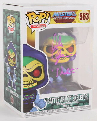 Alan Oppenheimer Signed Battle Armor Skeletor Master Of The Universe Funko Pop!