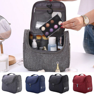 Professional Travel Large Makeup Bag Zipper Cosmetic Case Storage Organizer