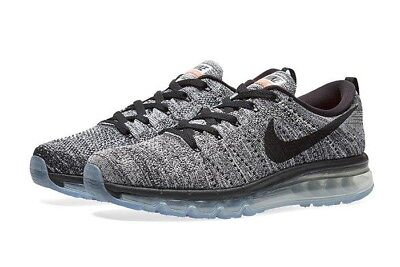 pretty nice 0ceeb 607d0 NEW NIKE FLYKNIT Air Max 2015 Oreo Black White Racer 620469 Size 10 No Box