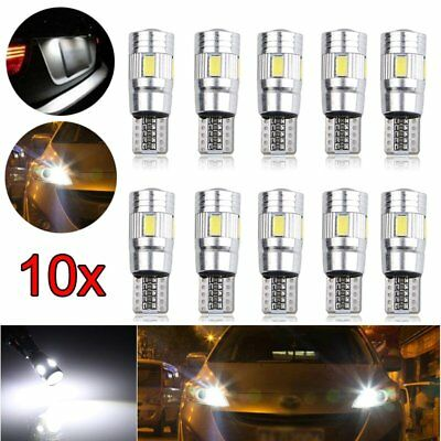10 Pcs T10 6 SMD 5630 3W LED Xenon Canbus Standlicht Beleuchtung Lampe 12V Licht