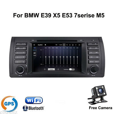 """For BMW E39 X5 E53 Android8.1 Stereo Car DVD Player GPS Navigation Wifi Radio 7"""""""