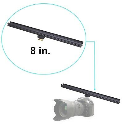 "Aluminium Alloy 8"" Flash Brackets Extension Bar with Cold Shoe for DSLR 8in/20cm"