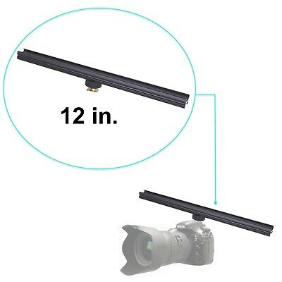 "Aluminium Alloy 12"" Flash Brackets Extension Bar with Cold Shoe DSLR 12in/30cm"