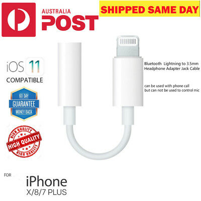 Apple 3.5mm Jack Adapter Cable Earphone Lightning Bluetooth For iPhone7 8 X Plus
