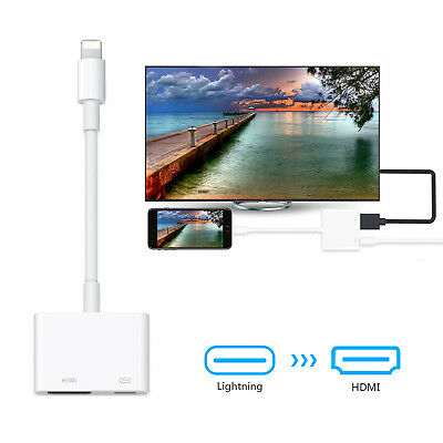 Lightning to HDMI Digital Cable Adapter For iPad iPhone X 6 7 8 6plus iPad To TV