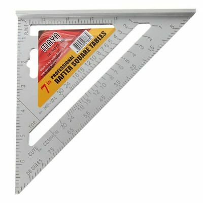5X(1 PCS Aluminium alloy triangular ruler,7 inch high grade carpenter's Th F3S3)
