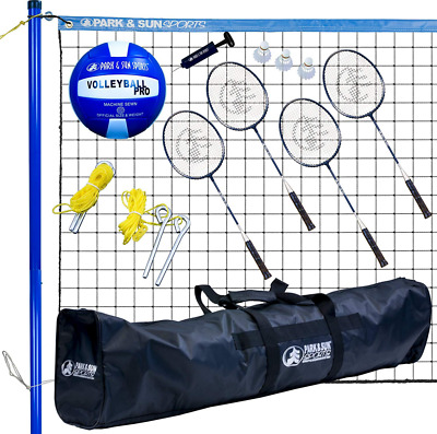 Park & Sun Sports Volley Sport Volleyball/Badminton Combo Set