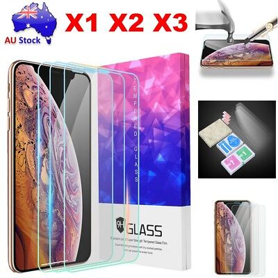For iPhone XS Max Full Coverage Scratch Resist Tempered Glass Screen Protector