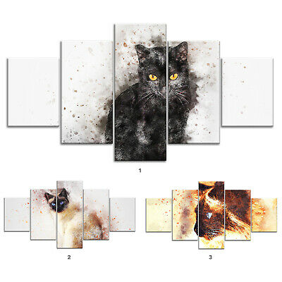 Cat Pet Animal Canvas Print Painting Framed Home Decor Wall Art Poster