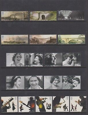 GB 2006 Complete Year Set Of commemorative Stamps- all in perfect MNH condition.