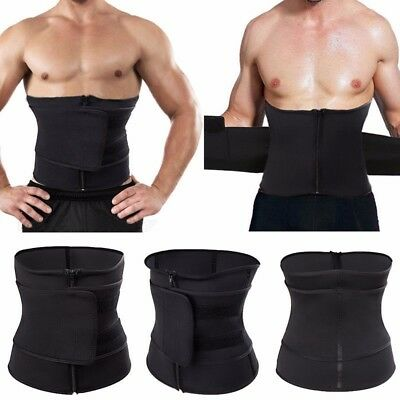 UK Unisex Fajas Underbust Slimming Waist Cincher Trainer Belt Sport Body Shaper