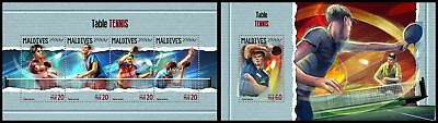 MALDIVES 2018 MNH ** Table Tennis Tischtennis SET #309ba B