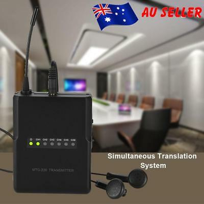 Wireless Microphones Tour Guide System for Tour Guiding Simultaneous Translation