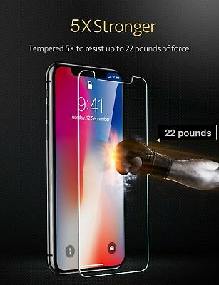 2x Pack For iPhone XS XS Max XR 8 Real Premium HD Tempered Glass  2 Pack