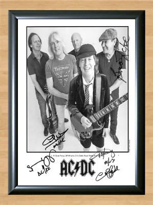 ANGUS YOUNG SIGNED 6X4 PHOTO PRINT AUTOGRAPH AC//DC ACDC BACK IN BLACK