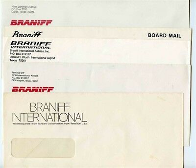 5 Different Braniff & Braniff International Envelopes