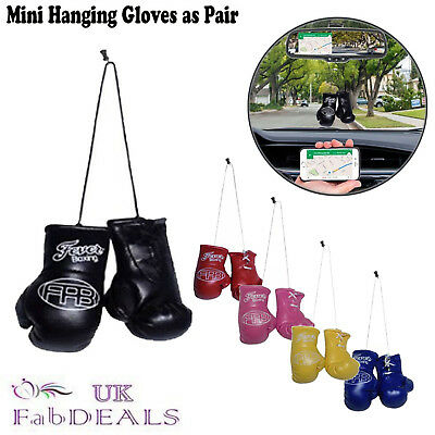 Boxing Gloves Mini Hanging Car Mirror Boxing Sports Fan Accessories